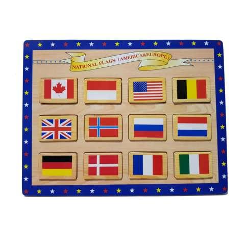 Kayla Org Mainan Edukasi Puzzle Bendera