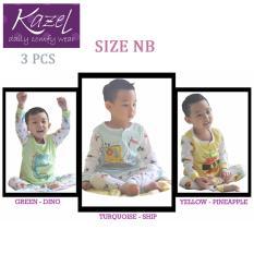Kazel Piyama Boy Ship Edition - Baju Tidur Setelan Anak Isi 3 Pcs (NB)