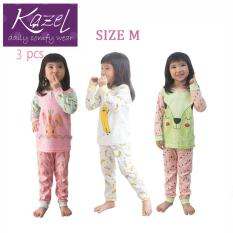 Kazel Piyama Girl Set - Baju Tidur Anak Setelan Isi 3 pcs ( M )