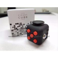 Rekomendasi Lazada - Premium Quality Fidget Cube (Black Red)