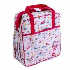 Kiddy Diaper Bag Bordir Motif Pink - Tas Perlengkapan Bayi