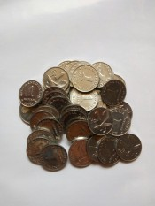 Uang kuno Koin rp1 atau 1 rupiah kinclong baru utk mahar