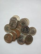 Uang kuno Koin rp5 atau 5 rupiah KB kecil kondisi kincling baru