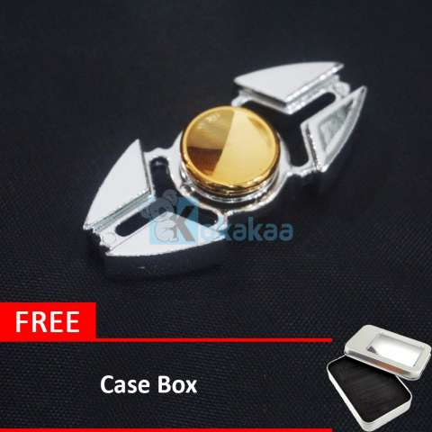Home; Kokakaa Fidget Hand Spinner Premium Chrome Silver Gold Shuriken Mainan Anti Stress 2 Bintang