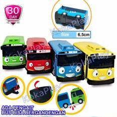 KokaPlay Little Bus Tayo Driving Game 4 in 1 Pull Back Car Play Set Mainan Anak Mobil Bis Karakter Tayo Rogi Lani Gani