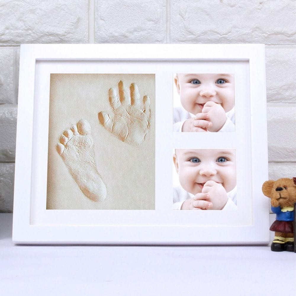 leegoal Baby Handprint, Footprint Picture Frame Kit, Unique Baby Shower Gifts Set For Registry, Memorable Keepsake Box Decorations For Baby Shower Gifts - White - intl