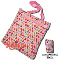 Little Hippo Waterproof Tas Popok Bayi /Wetbag/ Tas Baby/Tas diapers/susu/Perlengkapan bayi/Baby Diaper Bag Motif Pink Owl
