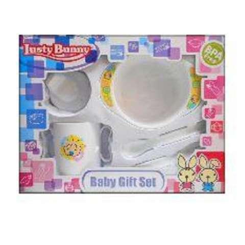 Beli Lusty Bunny Baby Gift Set Bpa Free Perlengkapan Makan Bayi 1 Set Size S Putih