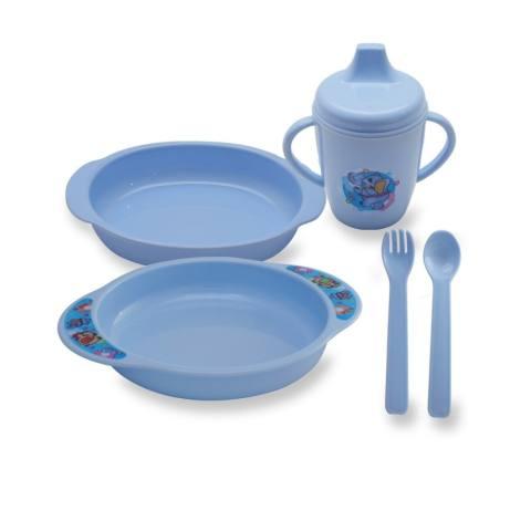Lusty Bunny Tempat makan Bayi Feeding Set 6in1 Peralatan makan Bayi
