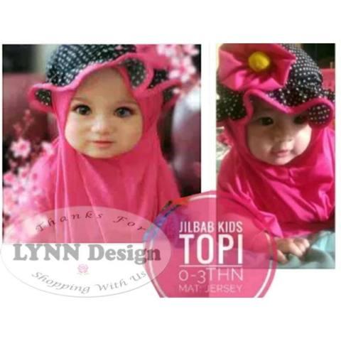 Lynn Design_ Jilbab Hijab Pashmina/ Yasna +topi bayi balita anak