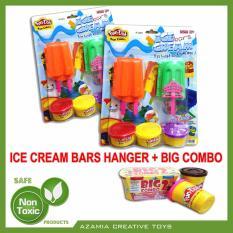 MAINAN ANAK EDUKASI FUN DOH ICE CREAM BARS HANGER (Bundle With REFILL FUN DOH BIG COMBO 2)