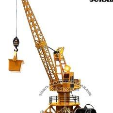 Mainan edukatif rc alat berat tower crane