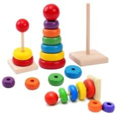 Menara Susun - Mini Rainbow Tower - untuk usia 1 tahun (+)