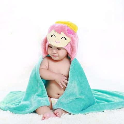 MomBaby Selimut Topi Double Fleece / Selimut Hoodie 3D / Hoodie Blanket Tudung / Selimut Topi