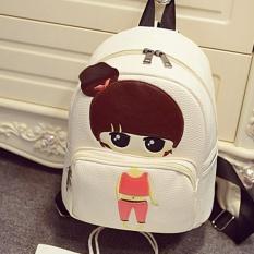Baru Kartun Gadis Kecil PU Leather Shoulder Bag Cartoon Series Backpack Anak Siswa Bag Little Girl 23 × 13 × 26 Cm-Intl