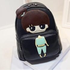 New Cartoon Little Girl PU Leather Shoulder Bag Cartoon Series Backpack Children Student Bag Little Girl 23×13×26cm - intl