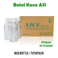 Nice Baby Botol ASI 125 ml isi 8 / Botol Kaca ASI / Botol Susu / Botol ASI