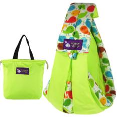 NiceEshop Cotton Baby Slings dan Wraps Carrier untuk Bayi Baru Lahir dan Menyusui, Hijau