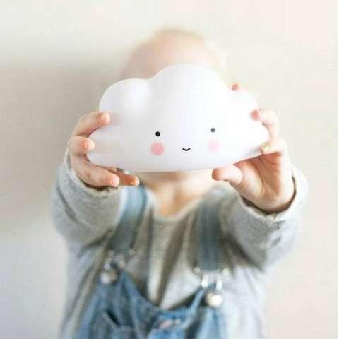 Baru Lampu Malam Anak Kamar Anak-Anak Menghias Cloud Wajah Senyum Lampu Malam-Intl 1