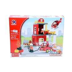 OTOYS City Fire Station Mainan Balok Lego 60 PCS - PA-G255908-188-103