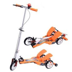 OTOYS DUAL PEDAL SCOOTER Foldable Skuter Double Pedal Dapat Dilipat - Orange - X007