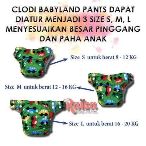Paket Hemat Agen Babyland Celana Clodi Bayi Motif Unisex - 6 PCS Clodi type Celana dengan