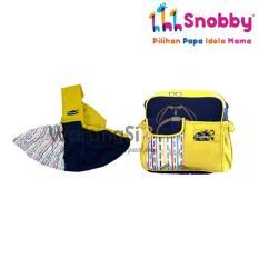 WarungSiBoss Paket Kado Perlengkapan Bayi Baru Lahir Snobby TPG 1642 Gendongan Samping + TPT 1672 Tas Bayi Kecil - Line Series