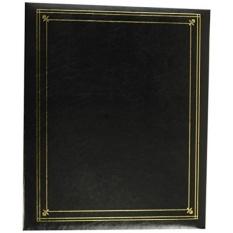 Album Foto Perintis 3 Cincin Penutup Kulit Hitam dengan Aksen Emas Album Foto untuk 4 Oleh 7- Inch, 5 Oleh 7-Inch, dan 8 Oleh 10-Inch Cetakan-Intl