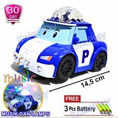 Robocar Poli Car Bump And Go With Music Light Mainan Anak Mobil Robocar Poli Musik Lampu Roy Helly Amber + Free 3 Baterai