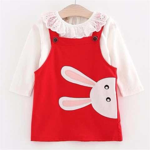 Jual Roman 2in1 Overall Dress Bunny Red Bayi 6month 2taunan Harga Rp 150.000