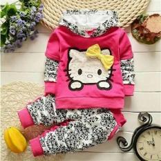 Set Hello Kitty Batik Pakaian Stelan Baju Anak Perempuan