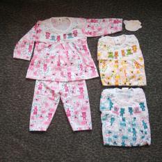 Setelan Baju Bayi Perempuan Motif Bear Piyama Baju Tidur