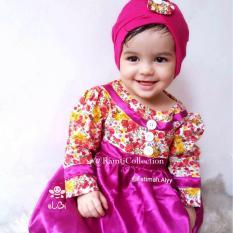 setelan baju muslim anak6 bulan I baju muslim bayi perempuan usia 1 tahun I gamis anak trendy I blooming