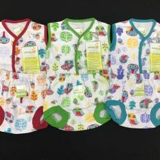 Setelan Baju Tidur/Piyama Kutung Velvet Junior Newborn