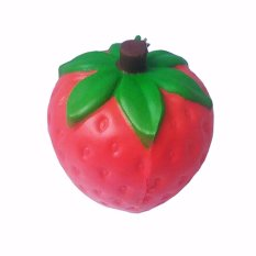 Simply Chic Gantungan Kunci Squishy Stroberi (Squishy Simulation Strawberry Slow Rising Squishy Fun Toys Key