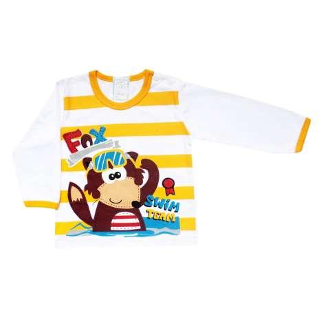 SKABe Baju Tidur Anak Bayi Putih Tangan Panjang Stelan Kaos 2029 1