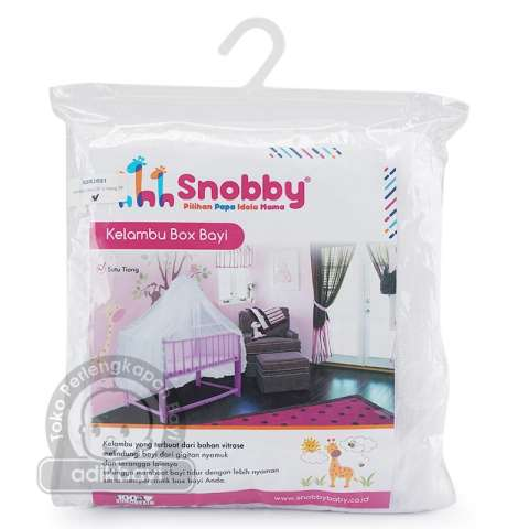 Snobby Kelambu Bayi Box 1 Tiang Putih - KLM015