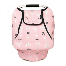Stretchy Baby Car Seat Covers For Boys Girls, Infant Car Canopy Winter Autumn Spring,Snug Warm Breathable Windproof, Adjustable Peep Window,Insect free,Universal Fit,Pink Arrowshower - intl