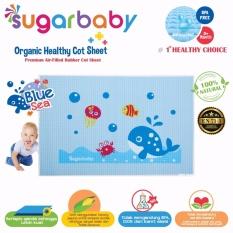 Sugar Baby Blue Sea Organic Healthy Cot Sheet - Perlak Bayi Organik 90 x 60 cm