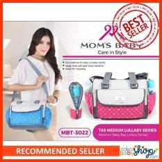 Tas Perlengkapan Bayi Diaper Bag Moms Baby Motif 3022 - Blue