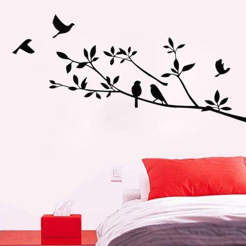 Kertas Dinding Pohon Hidup Dekorasi Ruangan Dapat Dilepas Seni Dinding Stiker Mural Dekorasi Vinyl 3