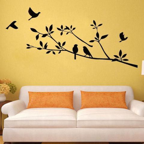 Kertas Dinding Pohon Hidup Dekorasi Ruangan Dapat Dilepas Seni Dinding Stiker Mural Dekorasi Vinyl 2