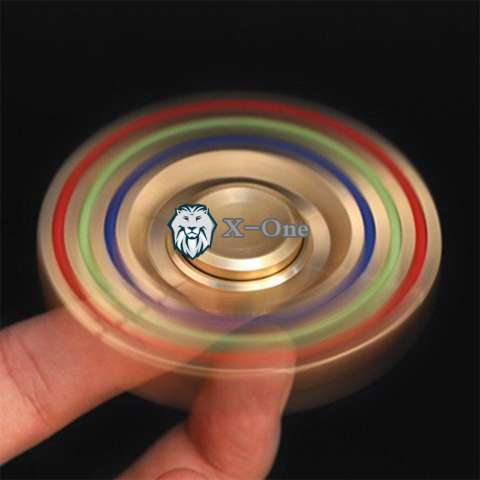 Kokakaa Fidget Hand Spinner Premium Rainbow Chrome Shuriken 3 Bintang Mainan Anti Stress . Source ·