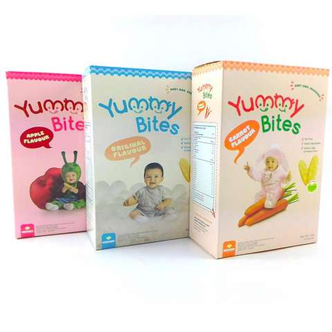 Arsyad Babyshop - Yummy Bites Paket 3 Box Biskuit Yummy Bites Rice Cracker 50Gram - Rasa