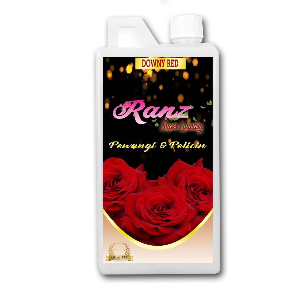 Ranz Super Laundry Pelicin setrika dan Pewangi Pakaian Downy Red 1 Liter
