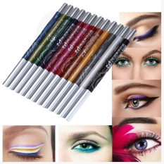 12 Warna Alis Glitter Shadow Pensil EyeLiner Pensil Pen Makeup Kosmetik Set Kit-Internasional