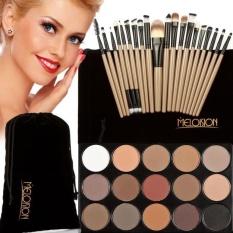 15 Warna Eyeshadow + 20 Pcs Makeup Brushes Concealer Face Powder Shadow-Intl