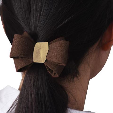 1 PC Tiga Dimensi Berongga Cincin Pita Rambut Hiasan Kepala Wanita Coklat-Internasional 2