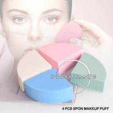 4 in 1 Spons Make Up Kenyal Premium Tidak mudah Brodol / Sponge beauty Make up bedak blender / Spon spons blender / BT SF-01
