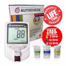 Autocheck GCU 3in1 Alat Tes Kolesterol Cek Gula Darah dan Asam Urat